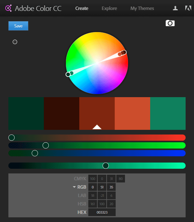 The Adobe Color Picker Website