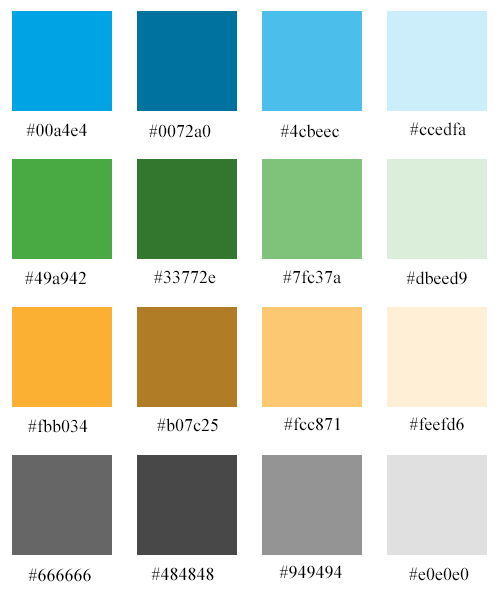 My website color picker palette